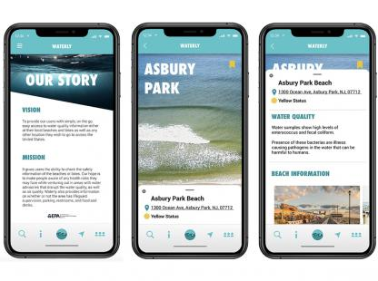 'Waterly', an app for learning and reporting local water conditions  by Eleni Giamos